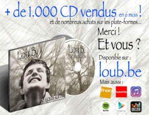 + de 1.000 CD vendus en 6 mois !