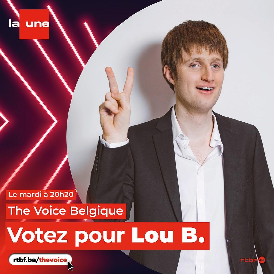 Lou B. sera aux premiers lives de The Voice Belgique, ce mardi 9 mars (sur La Une – RTBF – et sur Auvio)