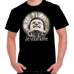 T-Shirt «Je vous kiffe» Noir